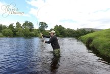 Guided Fly fishing for Atlantic Salmon / A selection of photos taken from the last few years showing Salmon being caught and returned at different rivers throughout Scotland.