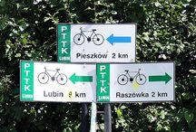 Lubińskie trasy rowerowe / Tablica jest o turystyce rowerowej i nie tylko. W okolicach Lubina na Dolnym Śląsku. www.lubinskietrasyrowerowe.pl