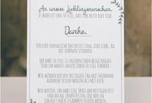 Sprüche/ Einladungs/ Dankestexte für Hochzeit