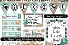 Woodlands classroom theme