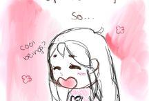 my terrible own drawings~...
