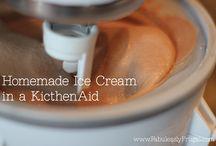 Homemade ice cream / Being summer (hopefully sometime soon) ice cream will be needed to help enjoy warm evenings.