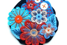 embroided flowers