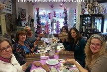 Chalk Paint® Workshops at The Purple Painted Lady / Photos of customers having fun while learning and creating beautiful finishes using Chalk Paint® by Annie Sloan