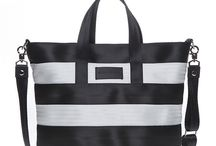NOT ONLY BLACK / Limited handbag series made of colourful seatbelts.