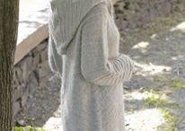 vest met hoodie gebreid