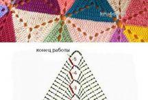 Horgolt háromszög