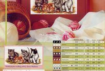 haft krzyżykowy koty