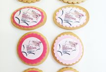 Corporate Biscuits / Corporate biscuits, logo biscuits, branded cookies, cookies for goodie bags, product launches, trade shows, PR events. Made by Nila Holden Cookies.