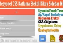 Profesyonel CSS katlama efektli Dikey Sidebar Menü