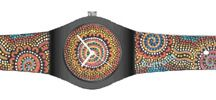 Aboriginal Art Watches / Australia Gift Shop's Aboriginal Art Watches are in the Australian Outback ® Artist Series. Each watch is presented in a clear plastic gift box and includes a book mark with information about the Aboriginal artist and a 12 month Blue Ribbon warranty.