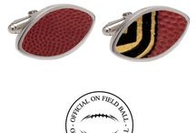 NFL Cufflinks / NFL Authentic Official Wilson On Field Leather Football Cufflinks. This unique hand crafted premium set of cufflinks features an Authentic Official On Field Wilson NFL Football inlay. The same game ball used by your favorite team and athletes, can now be worn is this individually handcrafted piece of jewelry made specifically for you.