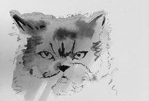 Watercolor/Suluboya / Watercolor drawing