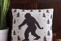 MOB Pillows / Krampus, Cthulhu, Aliens, Bigfoot + more from Middle of Beyond