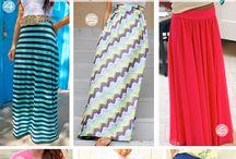 making skirts