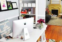 Home Decor: Home office inspiration / Hate looking at a blank wall in the corner of your living room? Or are you looking for some beautiful and unique way to spruce up that home office? Hopefully this board will help you piece together your dream home office...