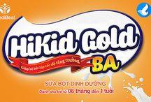 Thiết kế vỏ hộp Sữa bột dinh dưỡng Hikid Gold BA