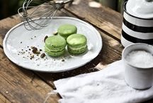 AEGINA PISTACHIOS / Macaron shells made of almonds and organic Aegina pistachios, salted and roasted with seawater and a filling of light butter cream with pistachios. (photo:Dionisis Andrianopoulos, Styling: Anestis Michalis, Photographer assistant: Konstantina Statha)