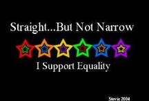 Rainbow Love / love & support for gay rights , I support equality for all / by Brianne S