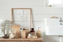 Dans la maison :la salle de bain.