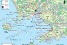 Naples and the Amalfi Coast maps / A few maps of Naples, the Amalfi Coast and surrounding areas. Find out more about our maps on our website (http://www.pcgraphics.uk.com) or on our other Pinterest Boards.
