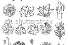 kresbičky kytky