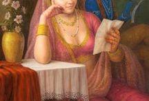 GOPAL KHETANCHI / Nació y se crió en Rajasthan. Talentoso artista cuyo estilo no se puede describir con una palabra, las obras de Khetanchi  su  estilo va desde el romanticismo al realismo profundo.