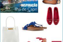 Inspiração / inspiração de lugares, referenciando nosso calçados e bolsas