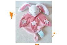 Doudou lapin BABY NAT' - SOS DOUDOUS