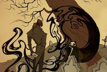 Poe/Lovecraft illustration