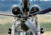 Air planes and helikopters