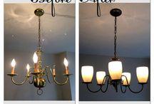 Home- chandelier makeover