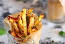 baked garlic cilantro fries