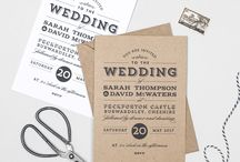 Design suite // Frankie Vintage wedding collection by Project Pretty / Vintage typographical style wedding invitations inspired by the prohibition era. Designed by Project Pretty