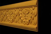Carved Friezes, Mouldings, and Crown / Decorative wood Carved friezes and moldings are classic architectural details featuring rhythmic patterns of repeated elements.