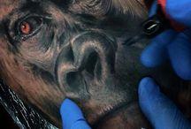 Animals by Yomico Moreno / Animal tattoos by Last Rites Tattoo Theatre resident artist Yomico Moreno. Originally from Venezuela, Yomico joined the Last Rites Team in 2015.