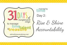 31 Days at A Time for Everything / 31 Days of Inexpensive Ways to Manage Time, Talent, and Treasure :: October 2014