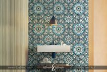 Moorish wall designs / Moorish wall designs reproduced on stucco rollable panels handcrafted in Italy https://www.infoaffreschi.com/medina/