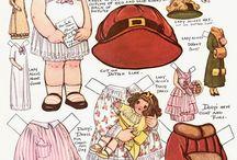 paper vintage dressup dolls