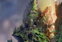 fantastic types of world and cities in concept of art!