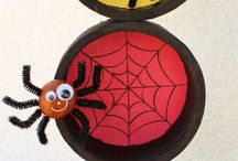 halloween assiette araignees