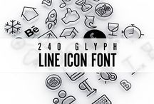 typography / This bord is about typography, font, icon, pictogram etch.