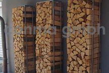 Dřevo uložení