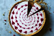 Cheesecake pomegranite love heart decoration / Keep design