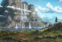 иллюстрации пейзажей
