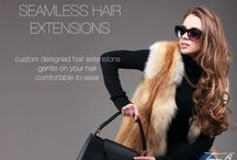 Hair Extensions / Discover seamless, natural looking hair extensions at tomy b hair salon www.tomybsalon.com