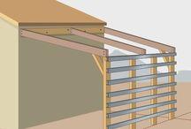 Περγκολα lean to roof