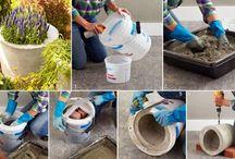 vasos concreto plantas