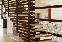 stairs / Treppen / stairs and their illumination, interesting material and design