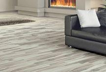 Gray Wood Look Porcelain Tile Flooring / Inspiration for the new interior designer neutral flooring color favorite - Gray!